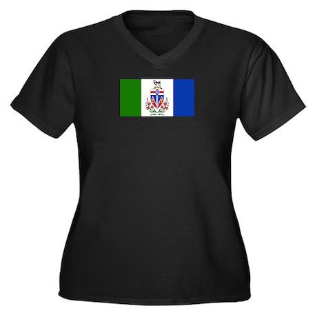 Yukon Women's Plus Size V-Neck Dark T-Shirt