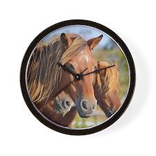 Wild Island Ponies - Wall Clock - Beach Bums