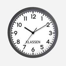 Klassen Newsroom Wall Clock