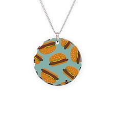 Cute Burger Pattern Necklace