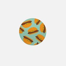 Cute Burger Pattern Mini Button