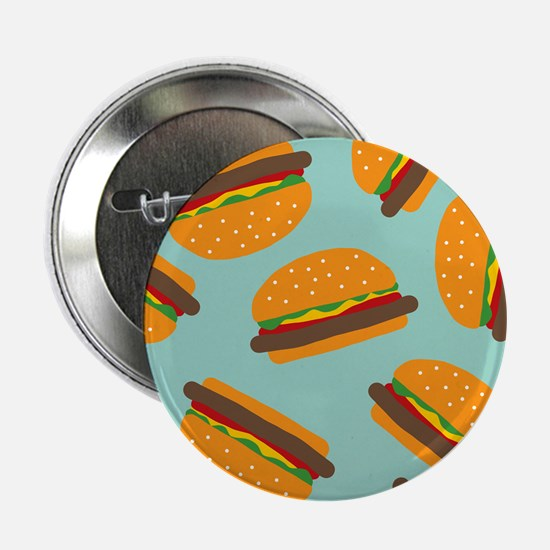 "Cute Burger Pattern 2.25"" Button"