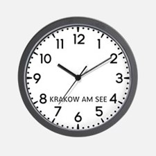 Krakow Am See Newsroom Wall Clock