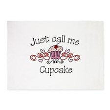 Just Call Me Cupcake 5'x7'Area Rug