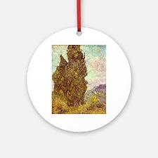 van gogh tree Ornament (Round)