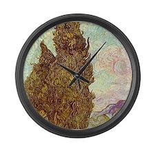 van gogh tree Large Wall Clock