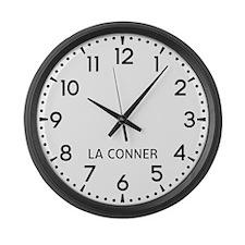 La Conner Newsroom Large Wall Clock
