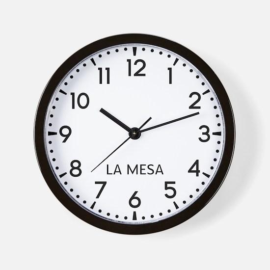 La Mesa Newsroom Wall Clock