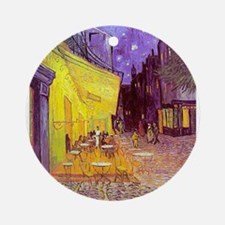 van gogh cafe terrace at night Ornament (Round)
