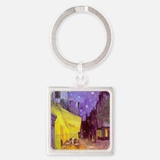 van gogh cafe terrace at night Keychains