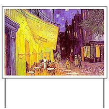 van gogh cafe terrace at night Yard Sign