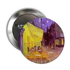 "van gogh cafe terrace at night 2.25"" Button (10 pa"