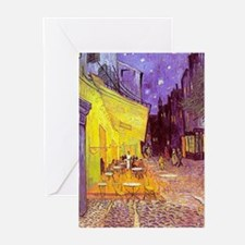 van gogh cafe terrace at night Greeting Cards