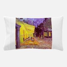 van gogh cafe terrace at night Pillow Case