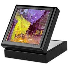 van gogh cafe terrace at night Keepsake Box