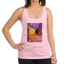 van gogh cafe terrace at night Racerback Tank Top