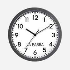 La Parra Newsroom Wall Clock