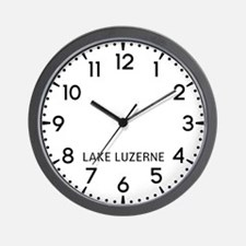 Lake Luzerne Newsroom Wall Clock