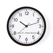 Lake St. Croix Beach Newsroom Wall Clock