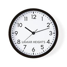 Lamar Heights Newsroom Wall Clock