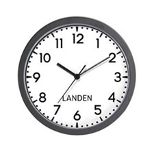 Landen Newsroom Wall Clock