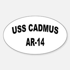 USS CADMUS Sticker (Oval)