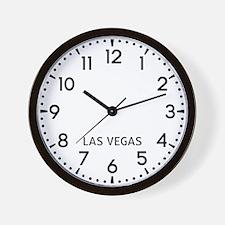 Las Vegas Newsroom Wall Clock