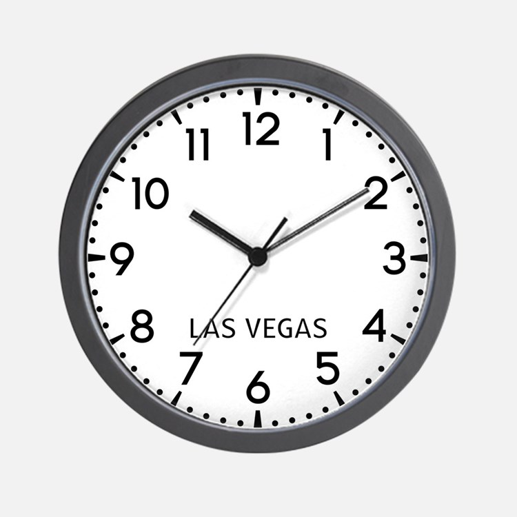 Las Vegas Newsroom Wall Clock