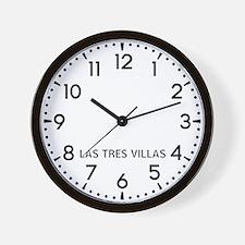 Las Tres Villas Newsroom Wall Clock