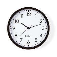 Lent Newsroom Wall Clock