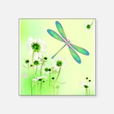 Green Dragonfly Summer Sticker