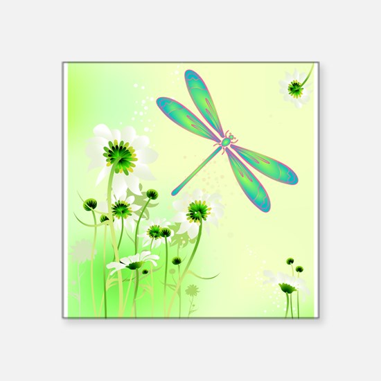 Green Dragonfly Summer Sticker