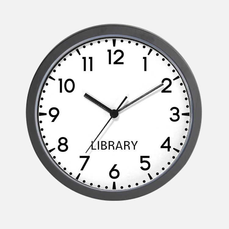 Library Newsroom Wall Clock