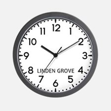 Linden Grove Newsroom Wall Clock
