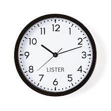 Lister Newsroom Wall Clock