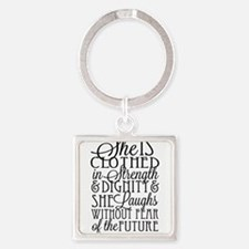 Clothed In Strength Dignity Keychains
