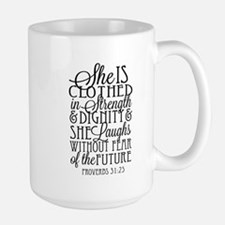 Clothed in Strength Dignity Mugs