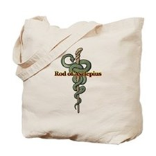 Rod of Asclepius Tote Bag