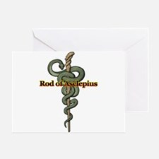 Rod of Asclepius Greeting Card