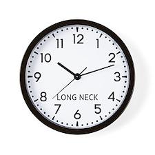 Long Neck Newsroom Wall Clock