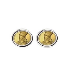 Selassie I Conquering Lion Oval Cufflinks