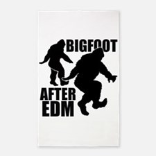 Bigfoot after EDM 3'x5' Area Rug