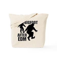Bigfoot after EDM Tote Bag