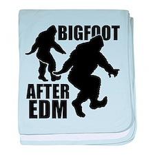 Bigfoot after EDM baby blanket