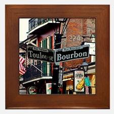 New Orleans French Quarter Framed Tile