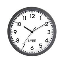 Lyre Newsroom Wall Clock