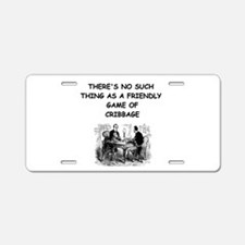 CRIBBAGE11 Aluminum License Plate