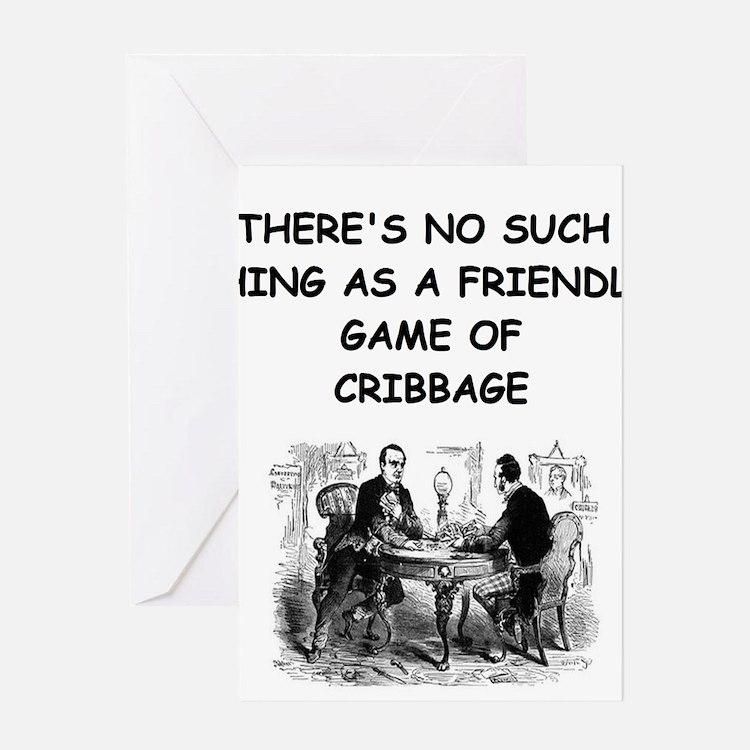 CRIBBAGE11 Greeting Cards