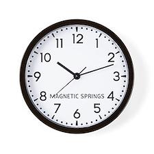 Magnetic Springs Newsroom Wall Clock