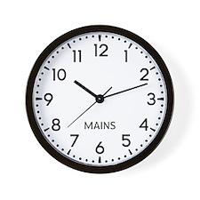 Mains Newsroom Wall Clock